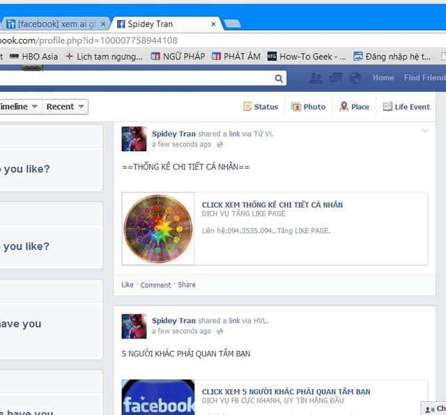 Virus lây lan qua các ứng dụng Facebook