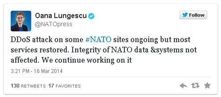 Hacker Ukraina tấn công làm tê liệt hệ thống website NATO