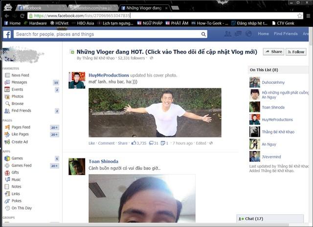 Tự động tag trên facebook