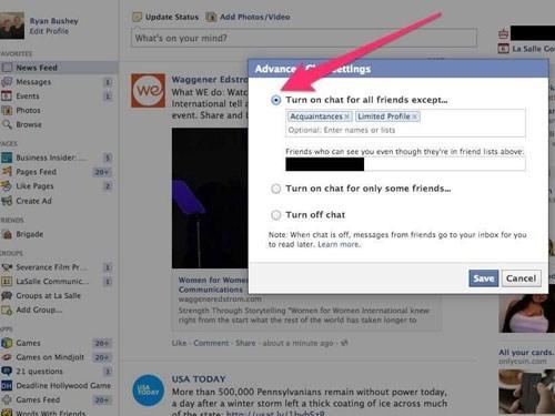 Cách chặn những status nhảm nhí trên Facebook