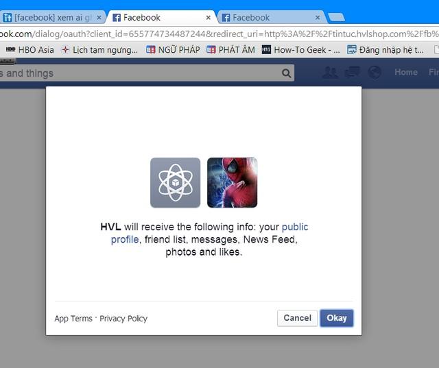 Ứng dụng ẩn danh Facebook