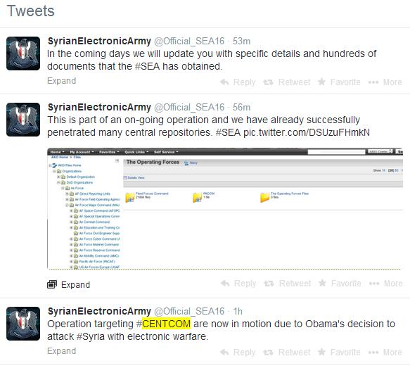 """Nhóm hacker """"Những chiến binh điện tử Syrian"""" tấn công Bộ tư lệnh quân sự Hoa Kỳ"""