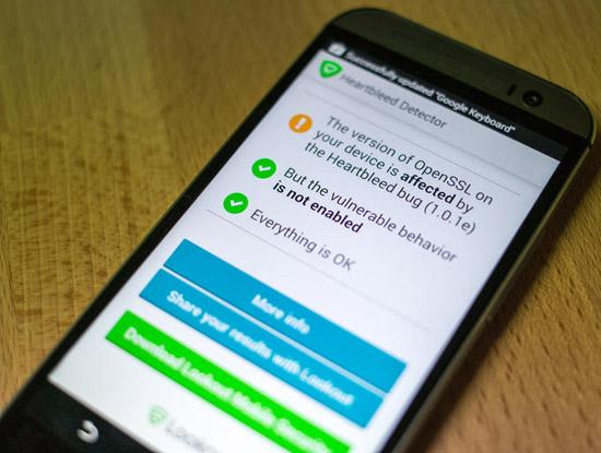 """Cách kiểm tra thiết bị Android có bị """"trái tim rỉ máu"""" Heartbleed"""