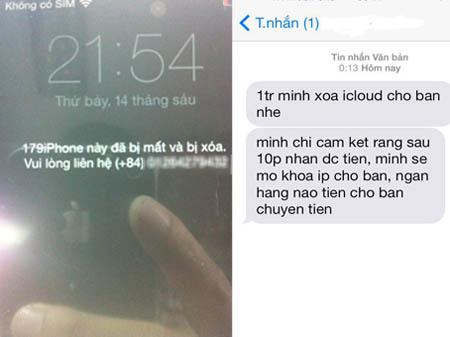 """""""Khóc dở mếu dở"""" trò đòi tiền chuộc để mở khoá iPhone"""