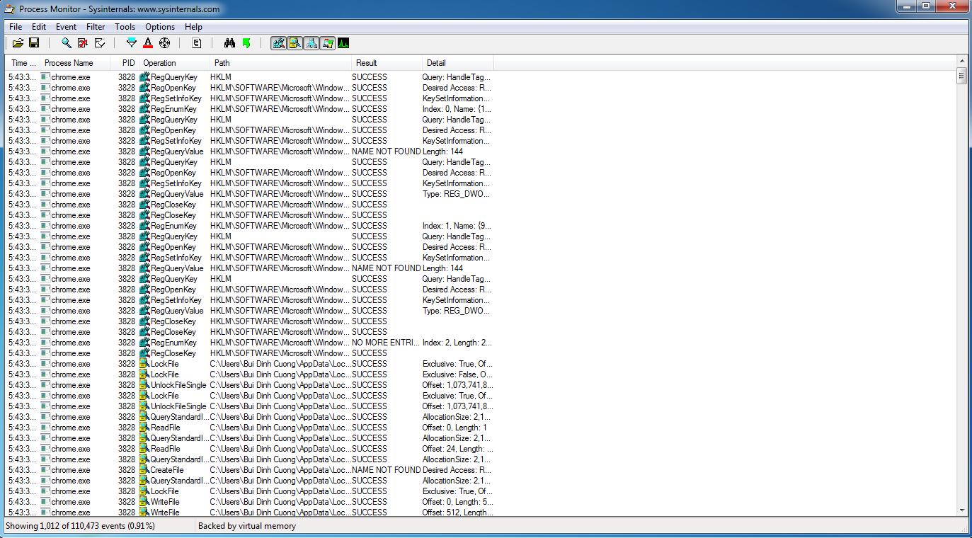 Công cụ giám sát và theo dõi hệ điều hành Process Monitor