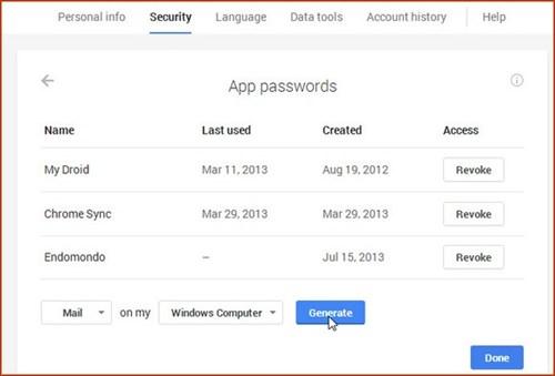Xác thực 2 bước Gmail trên nhiều thiết bị