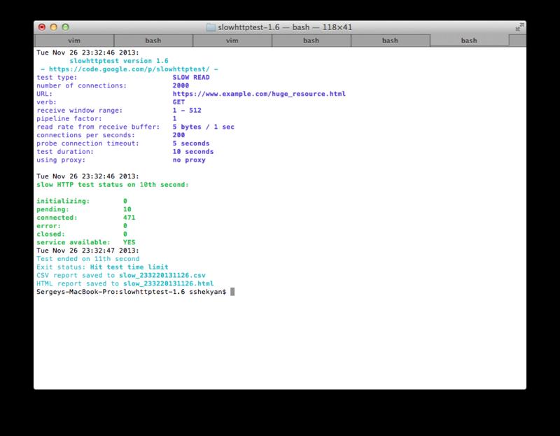 SlowHTTPTest - Phần mềm mô phỏng tấn công DDoS