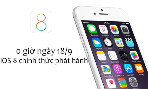 Apple chính thức ra mắt iOS 8 với 50 bản vá lỗi bảo mật