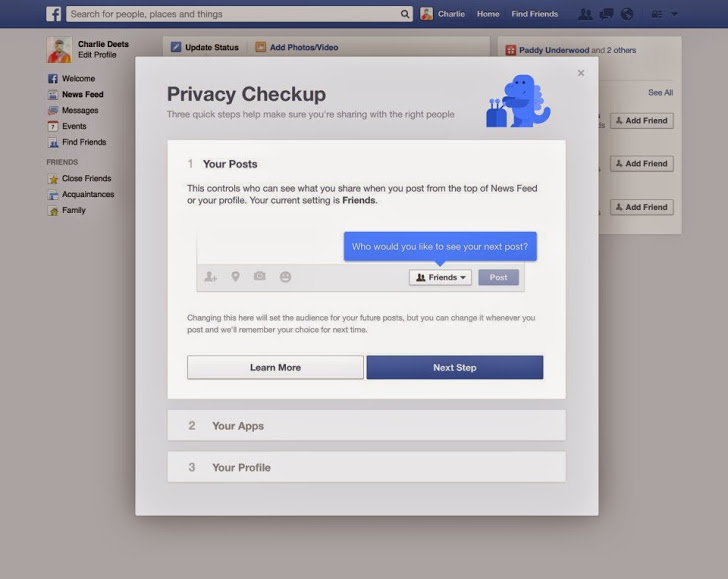 Facebook cung cấp công cụ bảo mật Checkup cho người dùng