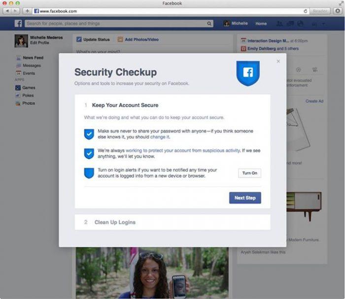 facebook Security Checkup