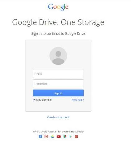 Fake-google-drive