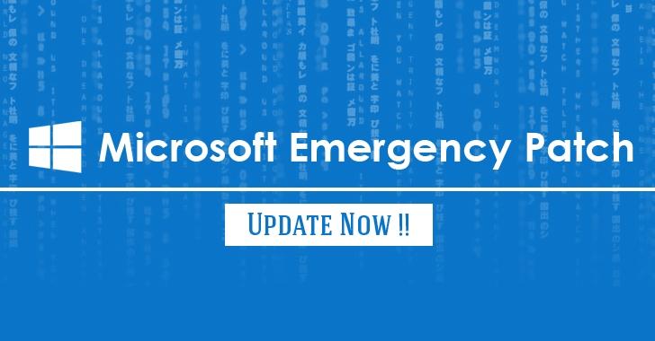 Microsoft phát hành cập nhật bản vá khẩn cấp cho tất cả các phiên bản của Windows
