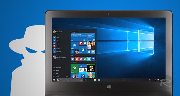 Windows 10 không ngừng theo dõi bạn, ngay cả khi vô hiệu hóa tính năng Creepy