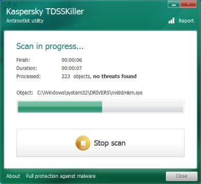 tdsskiller-scan