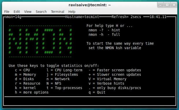 20 công cụ giám sát hiệu năng hệ thống Linux - Nmon