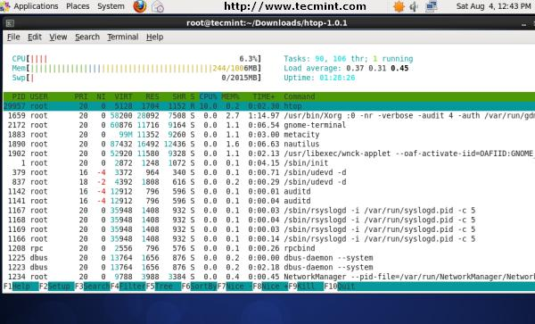 20 công cụ giám sát hiệu năng hệ thống Linux - HTOP