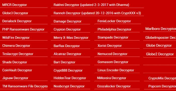 Phát hành công cụ giải mã 15 mã độc ransomware miễn phí