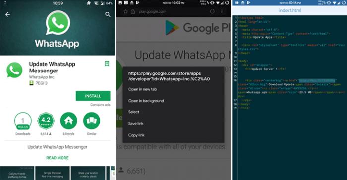 Ứng dụng giả mạo WhatsApp với hơn 1 triệu lượt tải về từ Google Play