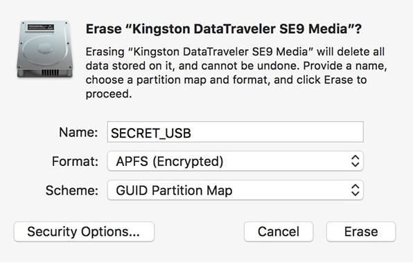 Apple macOS bug để lộ mật khẩu của APFS mã hóa trong văn bản