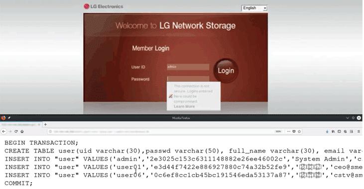 Phát hiện lỗ hổng thực thi lệnh từ xa trong thiết bị lưu trữ mạng LG
