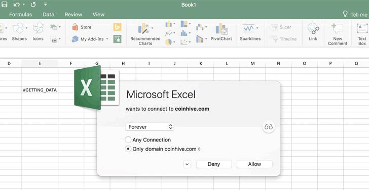 Tin tặc có thể khai thác hỗ trợ cho Javascript tùy chỉnh trong Excel